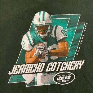 Jerricho Cotchery New York Jets NFL Green T Shirt